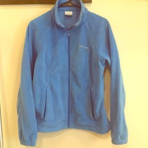 Ladies Columbia fleece zip-up